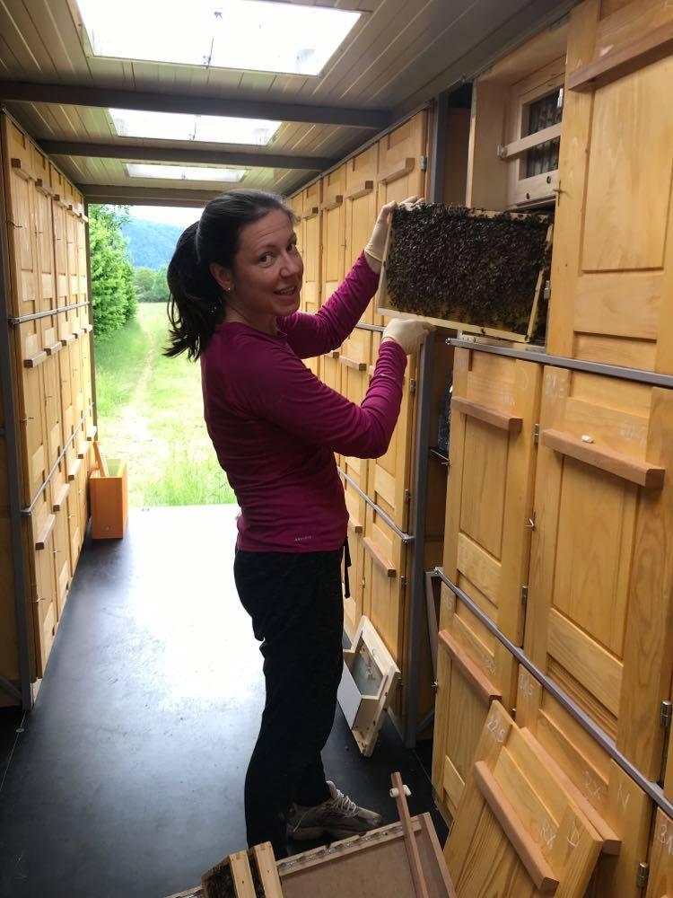Urška Intihar beekeeping