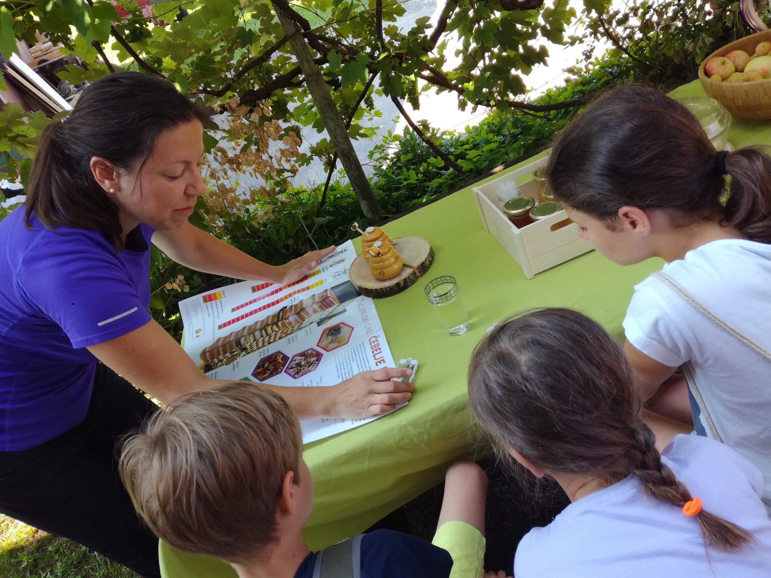 Urška Intihar beekeeper in kindergarden